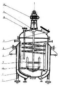 电加热不锈钢反应锅结构图